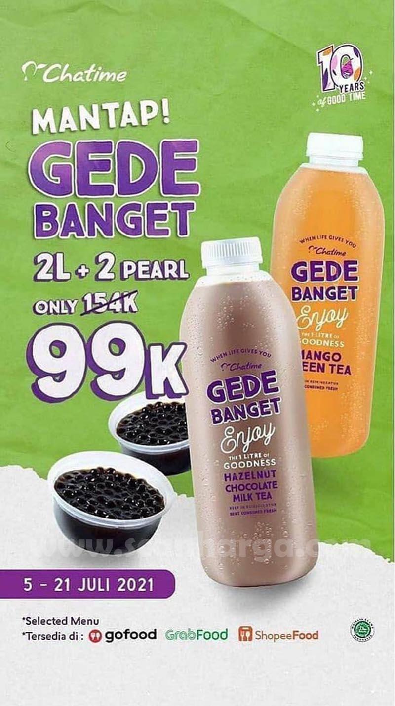 Promo Chatime Gede Banget 2L + 2 Pearl Hanya Rp. 99 Ribu