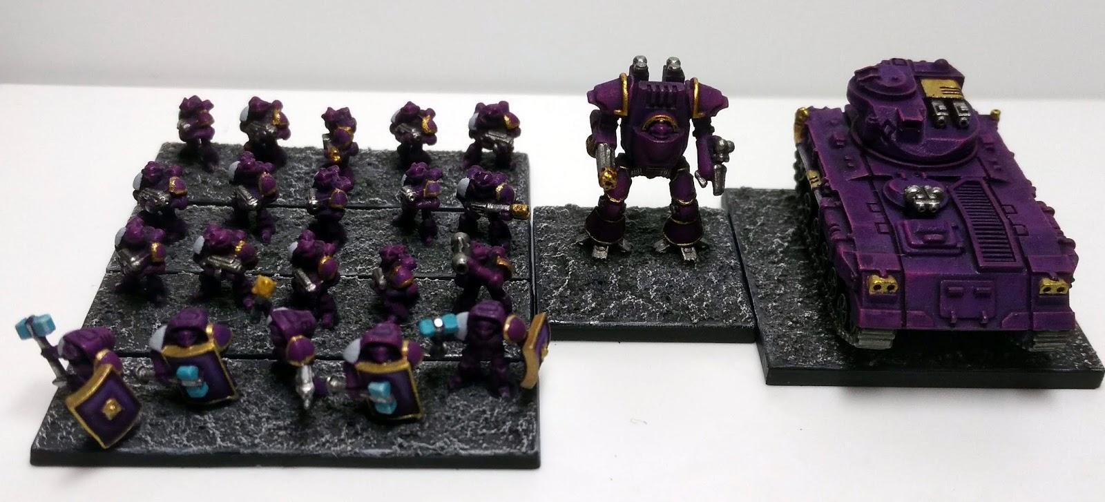 Epic 40k/30k Loyalist Emperors Children (6mm scale sci-fi