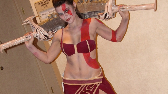skinny kratos girl cosplay