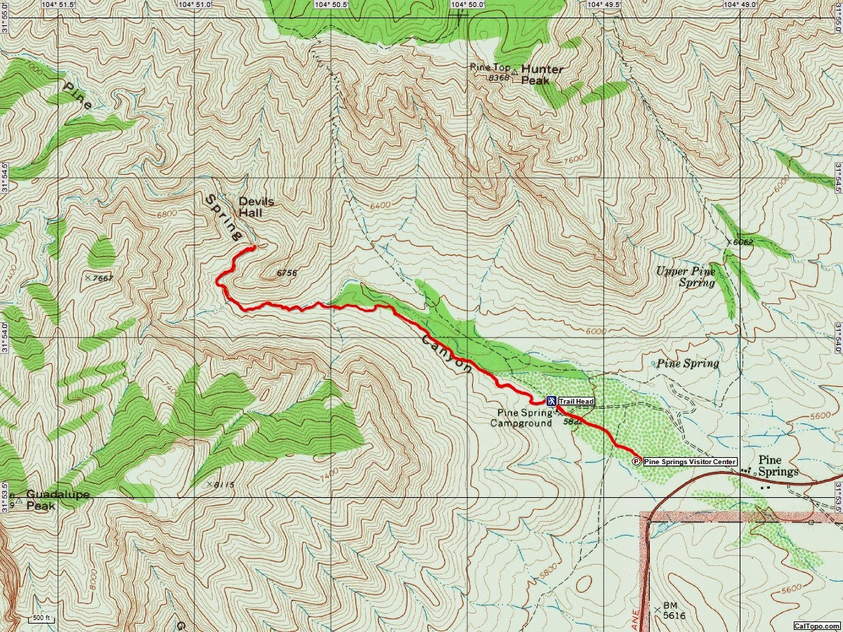 American Travel Journal Devils Hall Trail Guadalupe Mountains