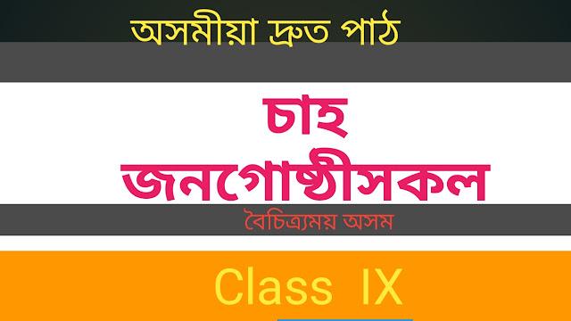 Cha Janagusthihokol - Boisitramai Axom - Class IX [ চাহ জনগােষ্ঠীসকল ( সুশীল কুৰ্মী )- বৈচিত্ৰ্য়ময় অসম -নৱম শ্ৰেণী ]