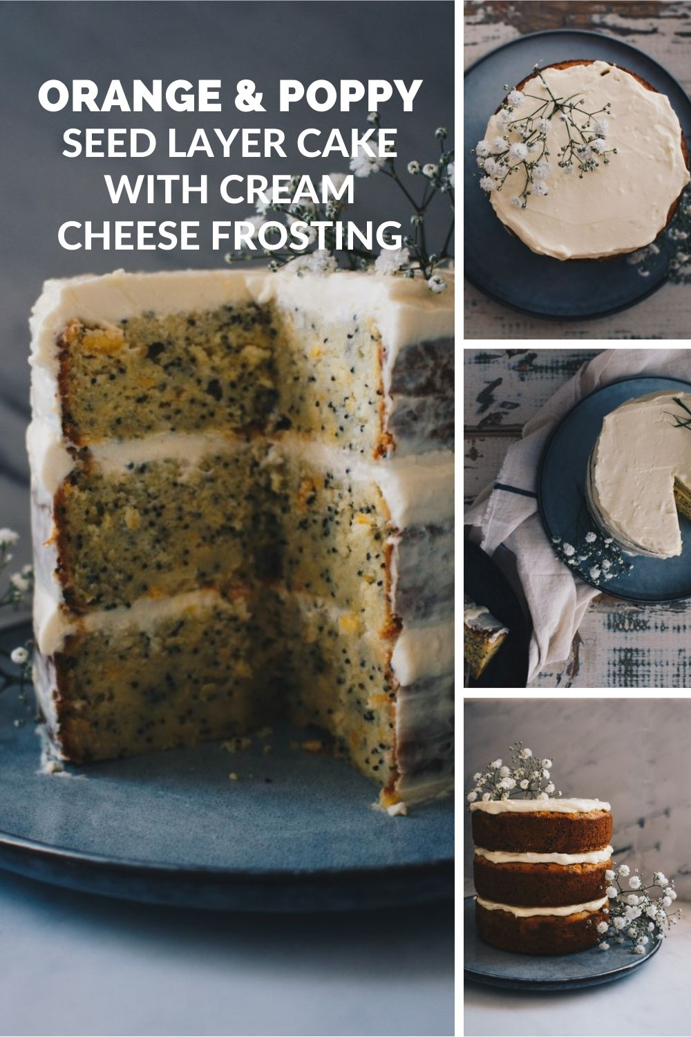 ORANGE & POPPY SEED LAYER CAKE WITH CREAM CHEESE FROSTING