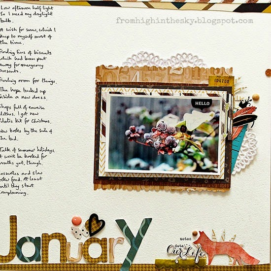 monthly scrapbook page: january
