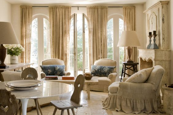 Pamela Pierce Pam living room French linen European