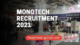 Monotech System Ltd Recruitment 2021 - Apply for Technician & Various Posts