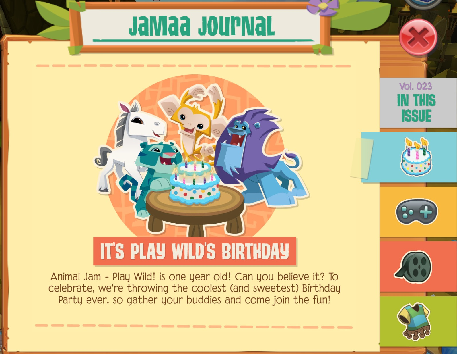 Animal Jam Graphic Central New Play Wild Update