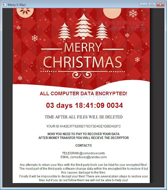 Βρήκαμε λύση για να μην πληρώσετε λύτρα σε bitcoin αν κολλήσατε Ransomware - ιό κρυπτογράφησης Merry Christmas v.2