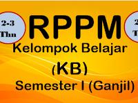 RPPM PAUD/TK Usia 2-3 Tahun Kurikulum 2013 Semester Ganjil