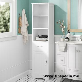 bathroom high cabinets