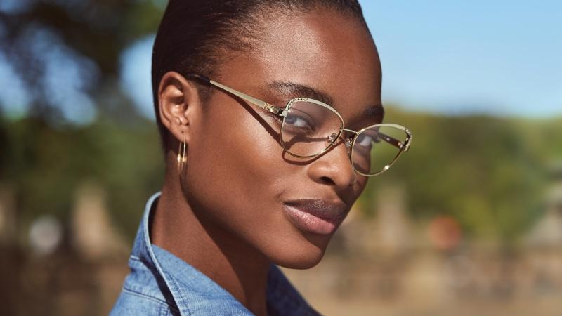 Mayowa Nicholas fronts Michael Kors Eyewear spring-summer 2021 campaign.