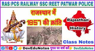 Revolt of 1857 in Rajasthan