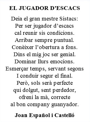 Poesía de Joan Español i Castelló