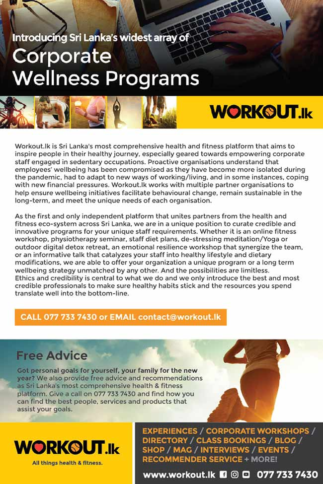 Workout.lk - Looking for Corporate Wellness Solutions?