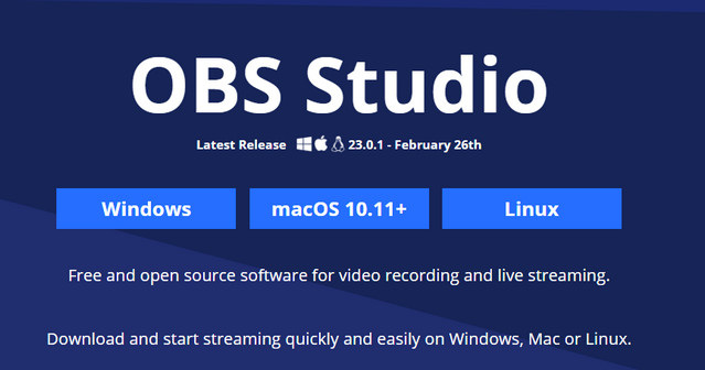 أفضل برنامج لتسجيل الفيديو والبث المباشر OBS Studio