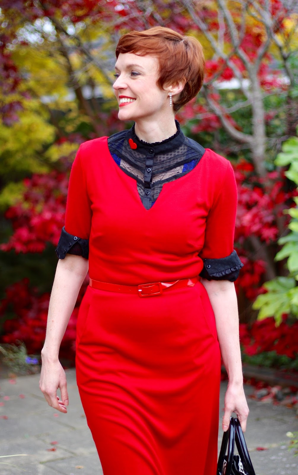 Layering a Little red dress & red ankle boots | Fake Fabulous Over 40