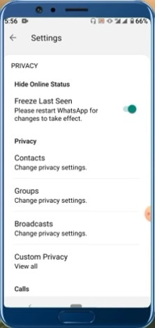 how to hide whatsapp online status