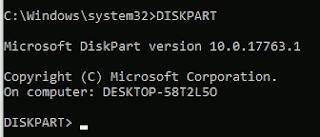 diskpart on CMD