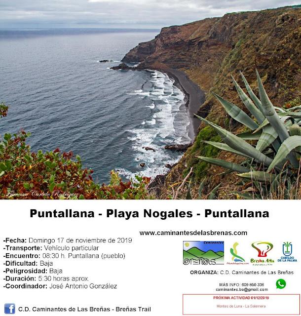 Caminantes de Las Breñas, Domingo 17 de Noviembre: Circular Puntallana