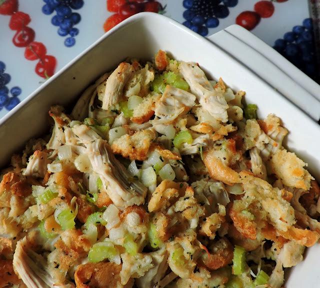 Amish Chicken & Stuffing Casserole