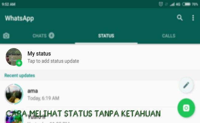 Cara Melihat Status WhatsApp Tanpa Ketahuan Teman (100% Work)