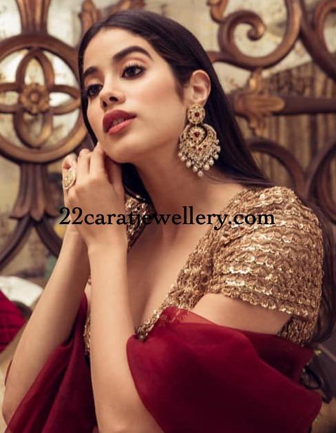 Janhvi Kapoor Huge Chandbalis Collection