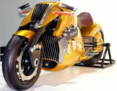 Moto creativa futurista amarilla