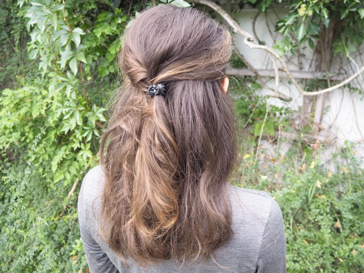Half-Updo mit Water Only Haaren (WO)