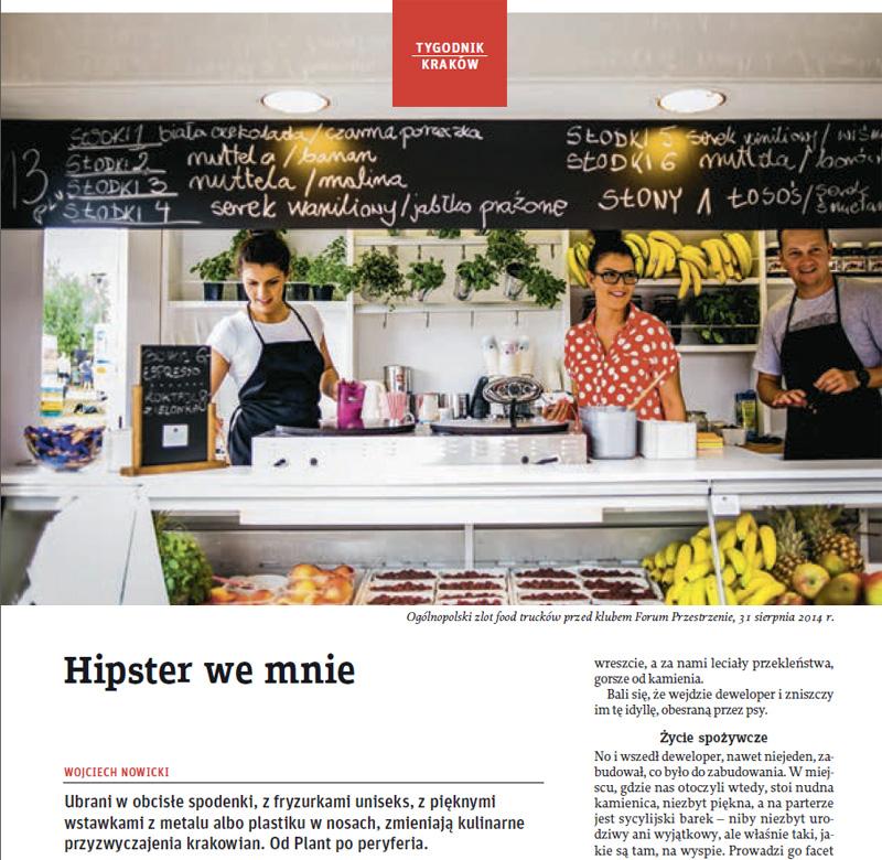 Tygodnik Powszechny, Wojciech Nowicki, Jacek Taran, hipster, food track, forum przestrzenie