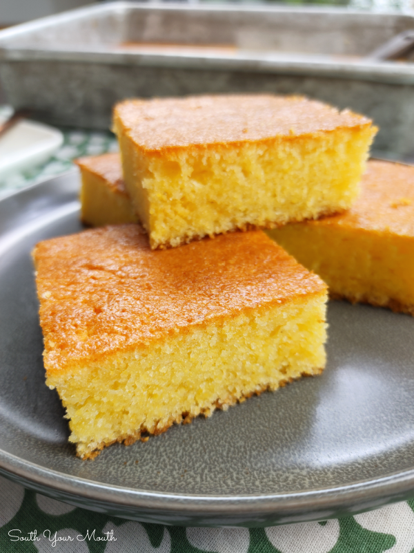 Better Than Homemade Cornbread - A Jiffy Hack with Duke's Mayo! Jiffy Corn Muffin Mix and mayonnaise come together to make this quick and easy cornbread recipe that's so super moist on the inside and crispy and golden on the outside!