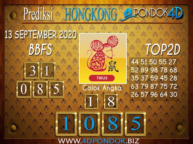 Prediksi Togel HONGKONG PONDOK4D 13 SEPTEMBER 2020