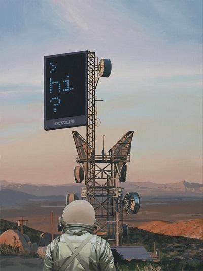 """The Tower"" - Scott Listfield | imagenes de arte bellas, pinturas tristes nostalgicas, cuadros, astronautas, sad art pictures, cool stuff"