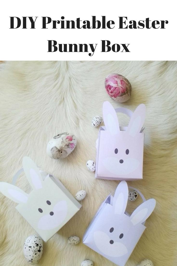 DIY Printable Easter Bunny Box | Home Chic Club: DIY Printable ...