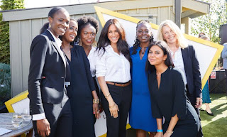 Duchess of Sussex and the ladies who modelled the smart works collection