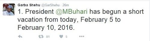 Breaking News: Buhari Begins Vacation, Osinbajo to Act As President