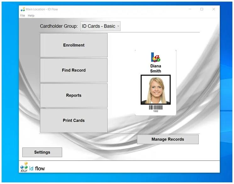 ID Flow Free : Δημιουργήστε επαγγελματικές κάρτες