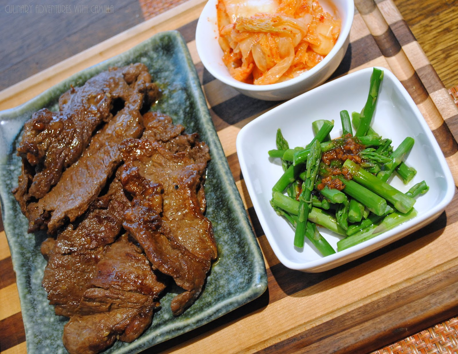 Korean asparagus. Recipe 48