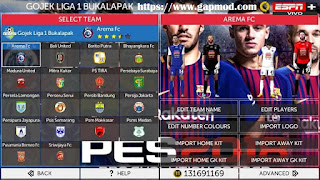 Download FTS Mod PES 2018 by Adhi Putra