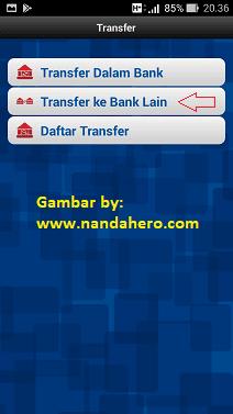 transfer dari bri ke bank lain