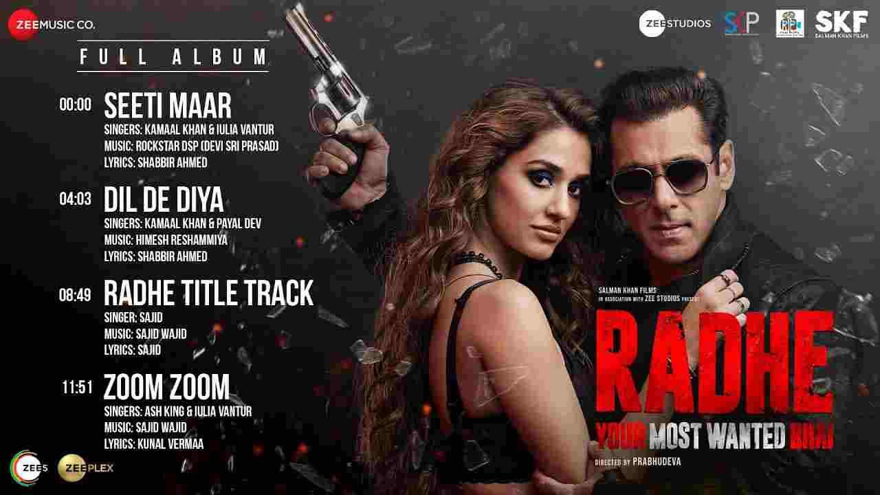 Zoom zoom lyrics Radhe ft Salman Khan Ash King x Iulia Vantur Hindi Bollywood Song