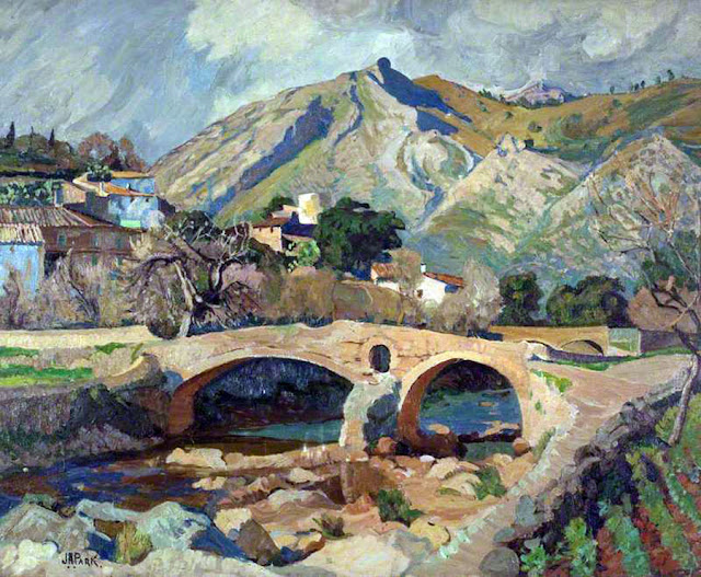 John Anthony Park, Pollensa, Mallorca en Pintura, Mallorca en Pintura, Mallorca pintada, Paisajes de Mallorca, Mallorca en Pintura