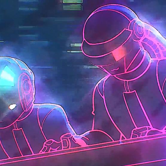 Daft Punk Loop Wallpaper Engine