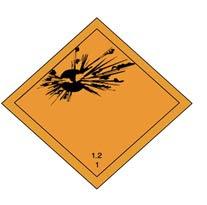 Class 1 Explosives placard