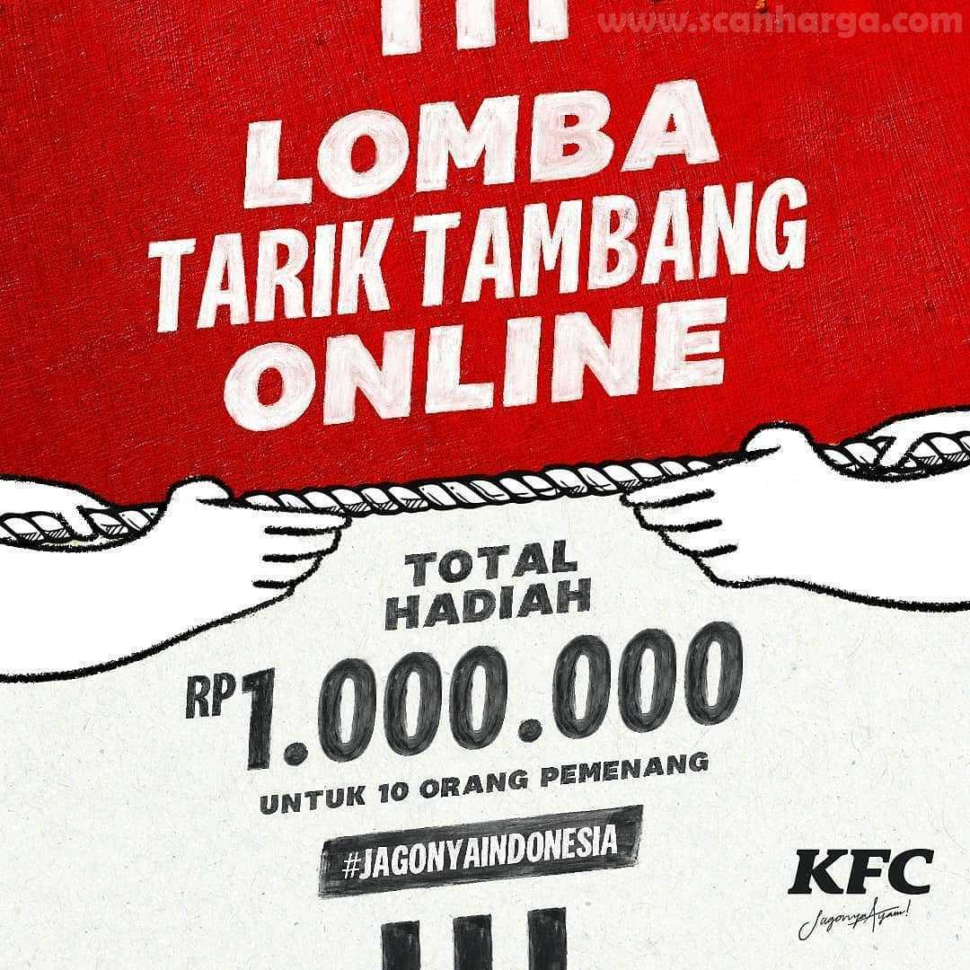 KFC Indonesia Adakan Lomba Tarik Tambang Online Berhadiah Total Rp 1Juta Untuk 10 Pemenang