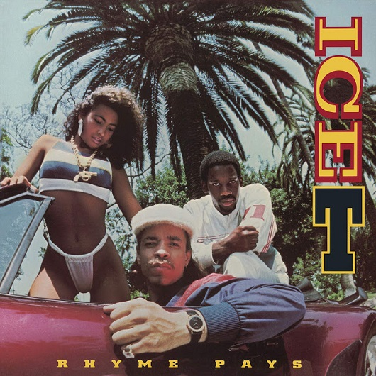 Album cover for ICE-T - Rhyme Pays (1987, Sire Records)