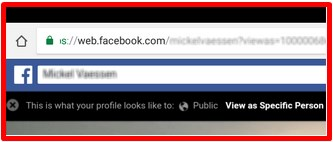 view as on facebook app iphone