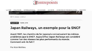Contrepoints et le train japonais