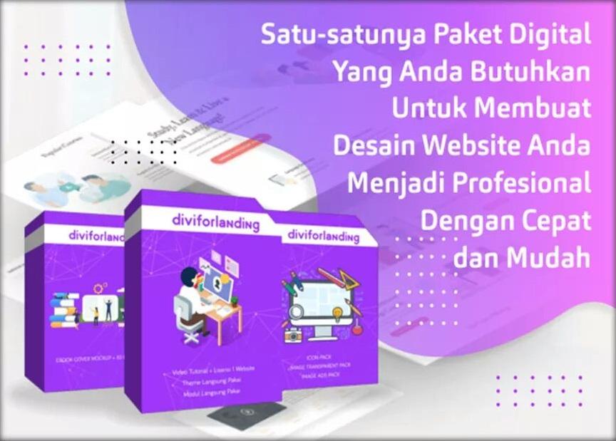 Diviforlanding paket komplit untuk membuat website profesional dengan cepat dan mudah.