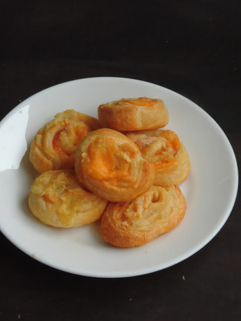 Triple Cheese Swirls, Cheese Pinwheels