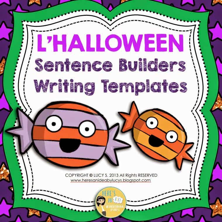 French Halloween Sentence Builders & Writing Templates