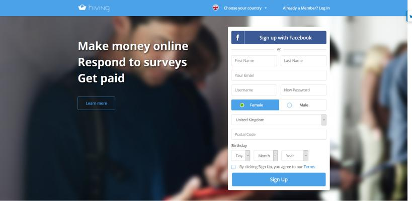 Hiving is another good website to fill surveys for money.